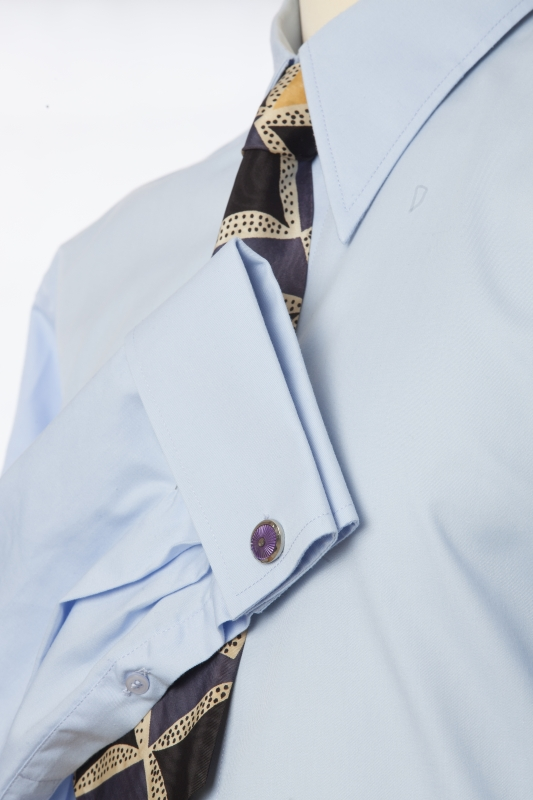 Spearpoint collar shirt double french cuff or single cuff for Pin collar shirt double cuff